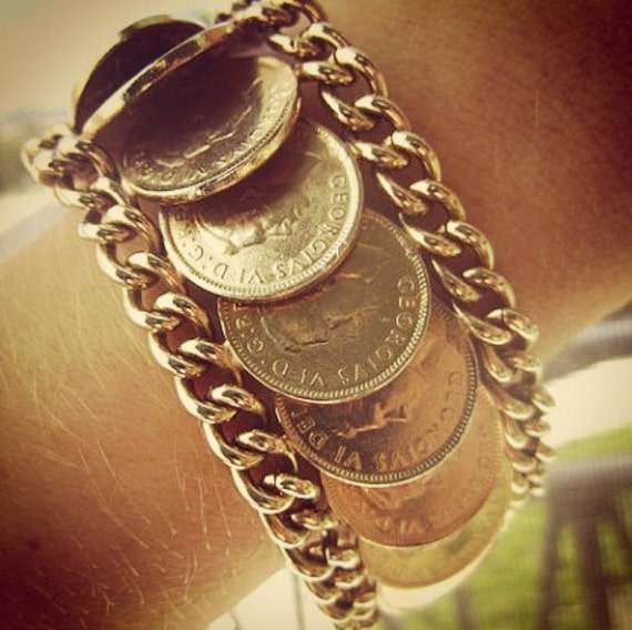the George bracelet - canadian coin bracelet