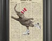 Elephant juggler 3 - Printed on Intelligence page  -  250Gram paper.