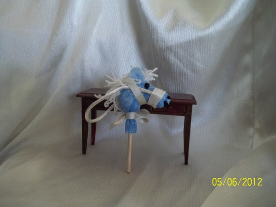 One inch scale Hobby Horse White Mane