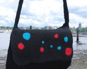 RESERVED----Dots- Felted Bag