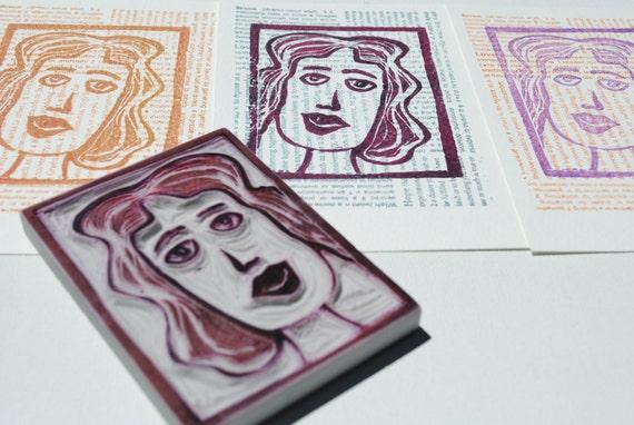 Set of 3 Postcards- Martini Girl