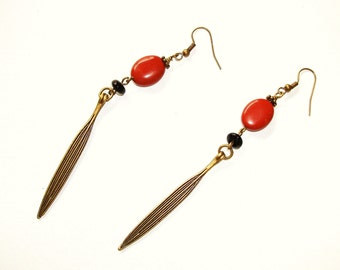 SALE/CLEARANCE - Red Jasper Long Leaf Dangles