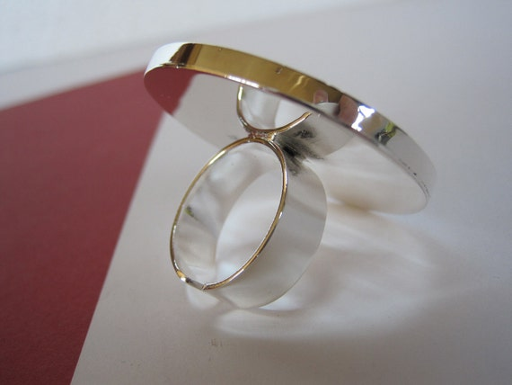 Adjustable Round Silver Ring Base with a 25mm Bezel Tray by BySupply
