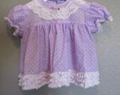 vintage baby ruffled lace polka dot dress