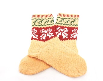 Christmas stocking,  wool SOCKS   -  gift WRAPPING for FREE