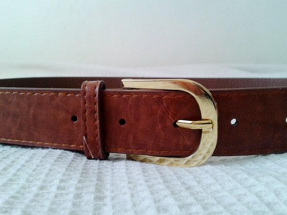 vintage brown belt gold buckle
