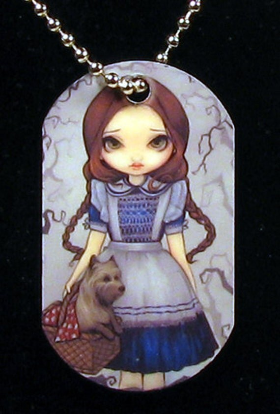 Jasmine Becket-Griffith Art Dogtag Necklace Dorothy and Toto and Off to See the Wizard of Oz