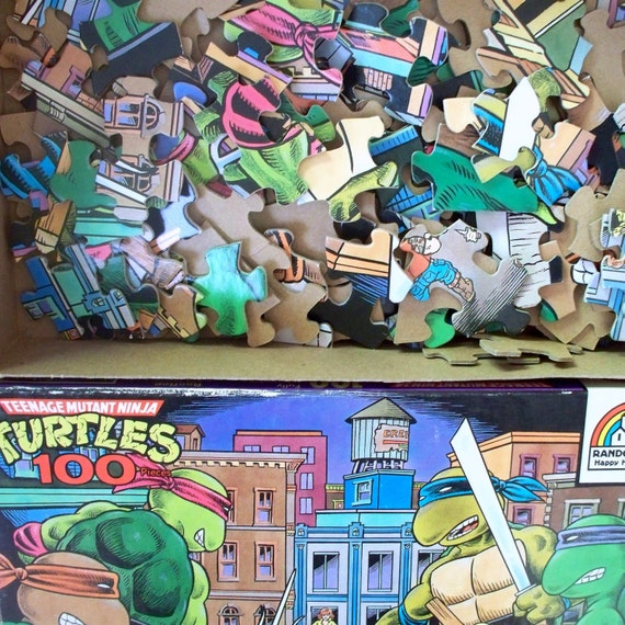Puzzle Vintage Teenage Mutant Ninja Turtles 100 piece Jigsaw