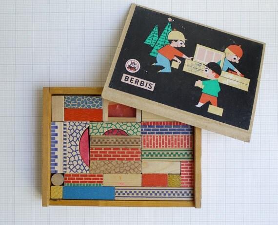 Berbis (German) Construction wooden building blocks - Complete set