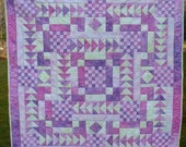 Flying Geese and Checkerboards Baby or Wall Quilt