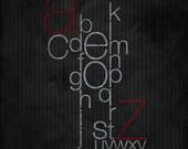 16x20 Typography is Love Black Art Print