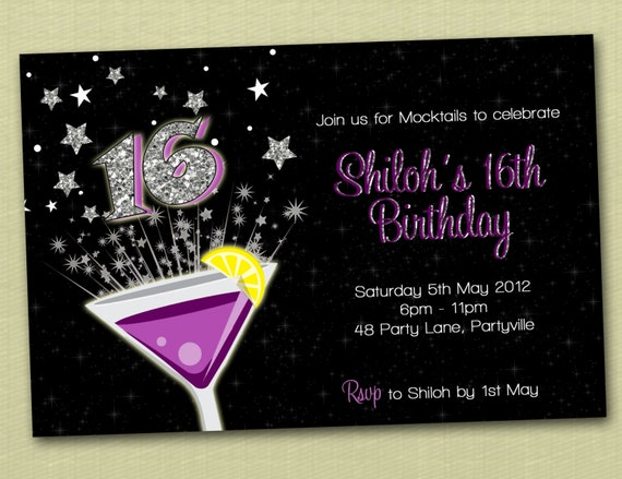 Product Search Bling – Personalised 21st Birthday Invitations
