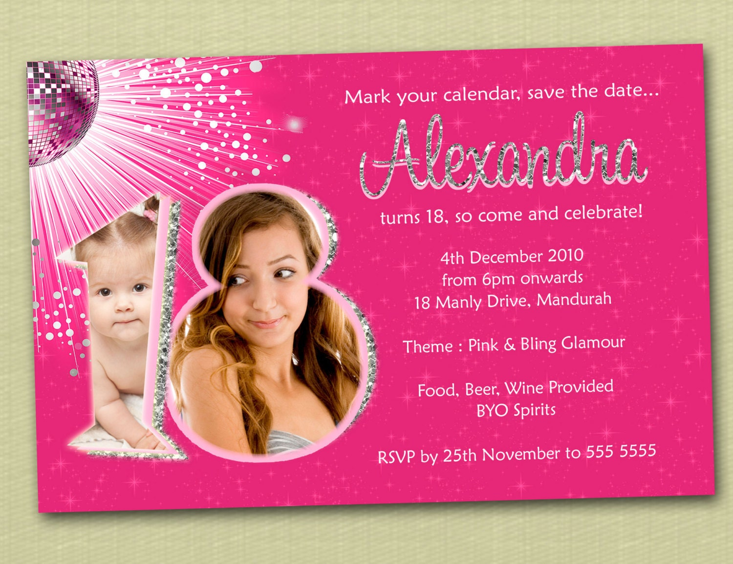 Birthday Invitation » 18th Birthday Invitations Templates ...