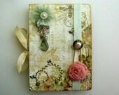 Pale Green & Peach Blank Book/Journa