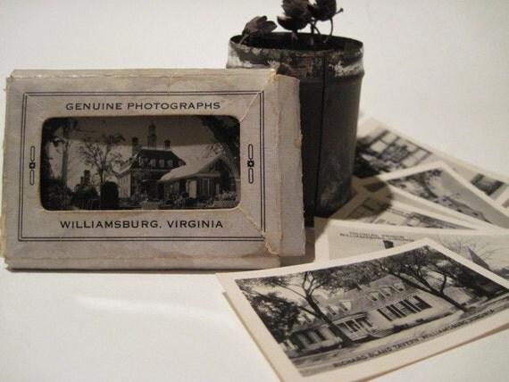 Vintage Williamsburg Virginia Souvenir Genuine Photograph Packet Mailer