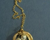 Gold Pearl Nest Necklace