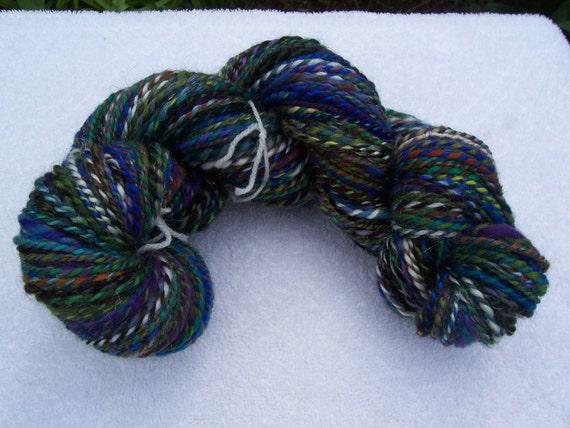 Handspun Yarn Multi Colour Yarn Aprox 177 yards