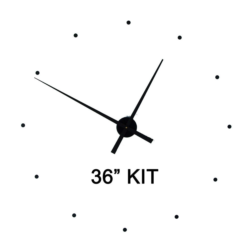 Wall clock kit36 to make your own 36 wall clock includes details wall clock kit amipublicfo Gallery