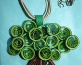 Quilled Tree Pendant with Necklace