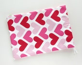 Heart Cloth Gift Bag / Fabric Goody Bag / Goodie Bag / Birthday Treat Bag / 7 x 9.5 inches