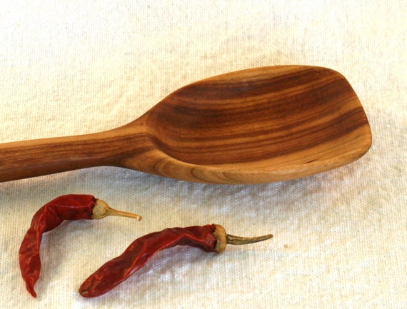 Hand Carved Black Cherry Wood Spoon