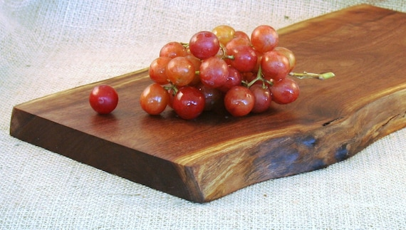 Rustic Natural Edge Serving Tray Made from Black Walnut