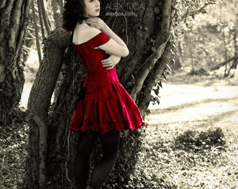 Red dress for Valentines day or a Love Wedding.
