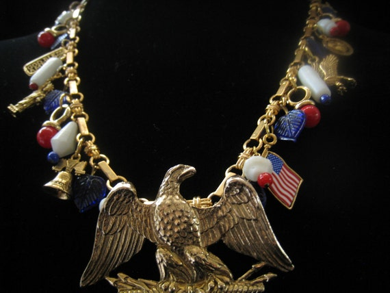 CLEARANCE USA Charm Necklace has Fireworks Closure ASSEMBLED by Creative Capers