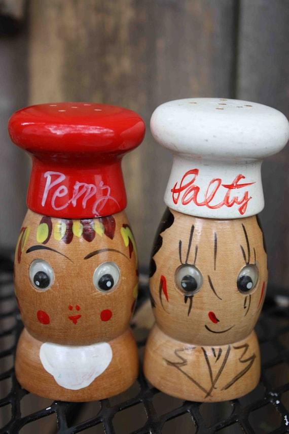 Vintage Napco Salty & Peppy Salt and Pepper Shakers made in Japan