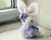 So Pretty Purple Violet Handmade Felt Bunny