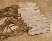 25 birch bark tags