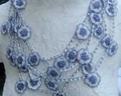 Traditional Turkish Crocheted Flower Lace from Adana