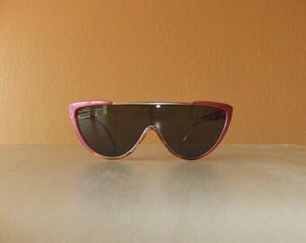 Vintage Charles Jourdan Pink Frame Sunglasses -- New Old Stock