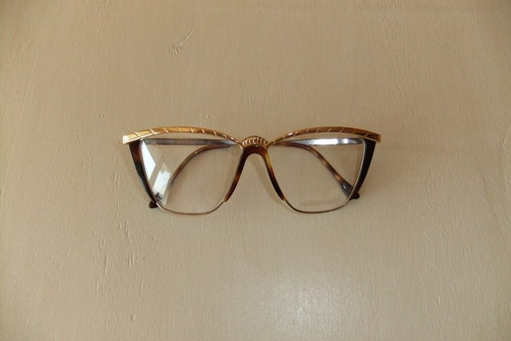 Vintage Mimmina Cat eye Tortoise and Gilded Frame