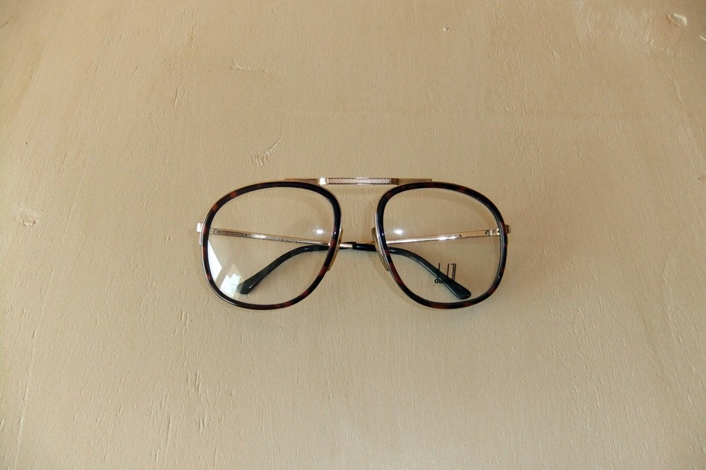 Classic Glasses Frame Styles : Vintage Dunhill Horn-Rimmed Eyeglass Frame 01 New Old Stock