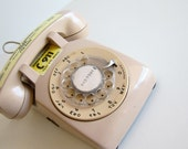 Vintage Rotary Telephone Cream Rotary Phone Western Electric Photo Prop Fathers Day Gift