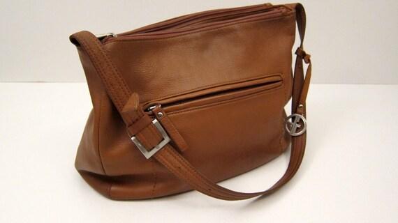 Vintage Giani Bernini Brown Leather Purse Vintage Handbag 1990s fashion