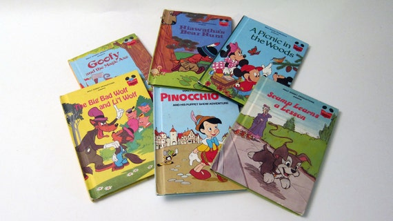 Childrens Books Collection 6 vintage books Disney s Wonderful World Of Reading 1950s 1960s