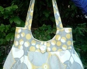 Yellow and Gray Round Bottom Amy Butler Purse with Free Shipping