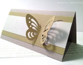 Escort Place Card with 3D butterfly -  table tag, place tag for wedding and other events