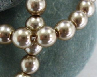 Czech Glass 6mm Pearls in Gorgeous Champagne.  3 dz.