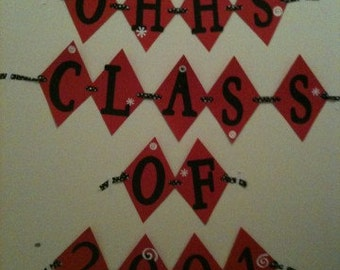 Personalized class reunion banner