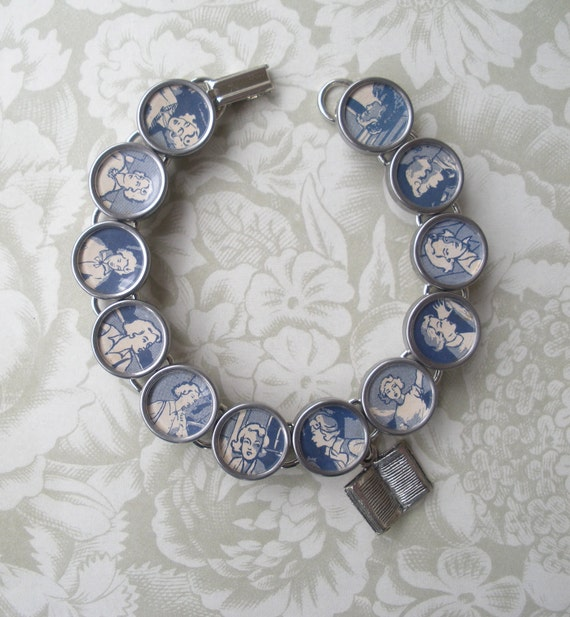 Vintage Typewriter Key Bracelet -- NANCY DREW --