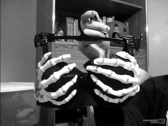 Skeleton Hand Bra