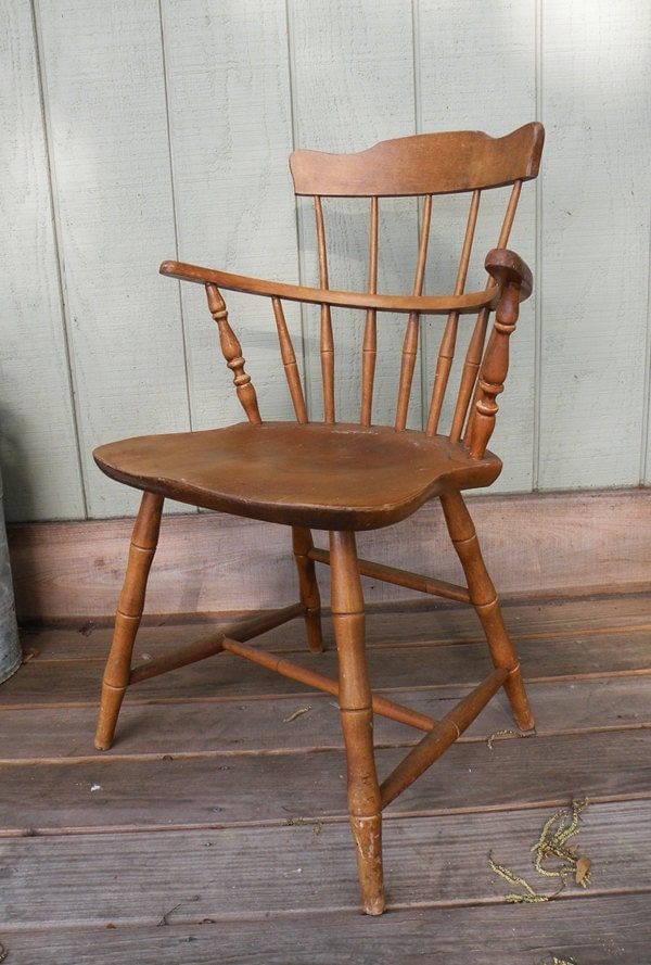Solid Maple Windsor Chair Nichols And Stone By Heartkeyologie