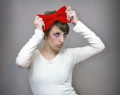 Big Red Crochet Bow - Large Red Bow Headband - Hair Accessory - Costume/Photo Prop
