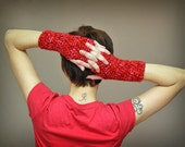 Crochet Wrist Warmers - Variegated Pink Fingerless Gloves - Womens Biker Gloves - Valentines Day for Her