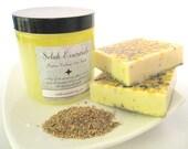 Gift Set -- Lemon Verbena Salt Scrub and 2 Lemon Verbena Soap Bars