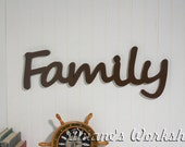 """8"""" Family Sign,Wall hanging, Wooden Family sign, wooden letters,wooden sign, home decor, wood sign, Housewares, Wall Decor"""