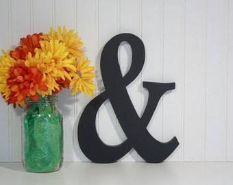 "12"" Ampersand Painted, Custom, Photography Prop, Wooden Alphabet Letter, Wedding, Decor, Birthday, Engagement"